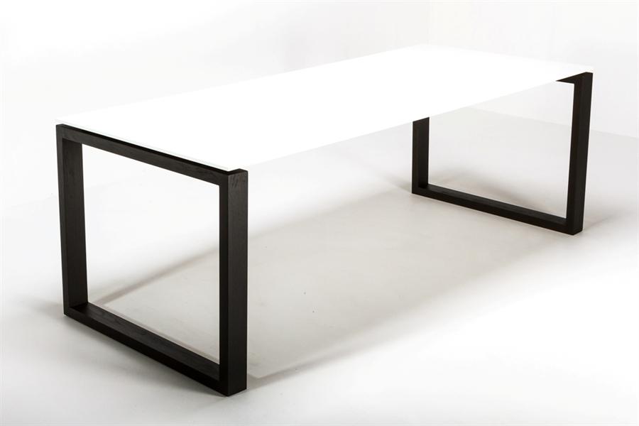Squaretop spisebord corian with black legs 90x200cm   squaretop ...