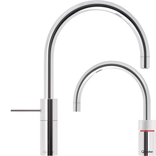 Quooker Twin Taps Nordic Round Krom inkl. PRO3 VAQ beholder