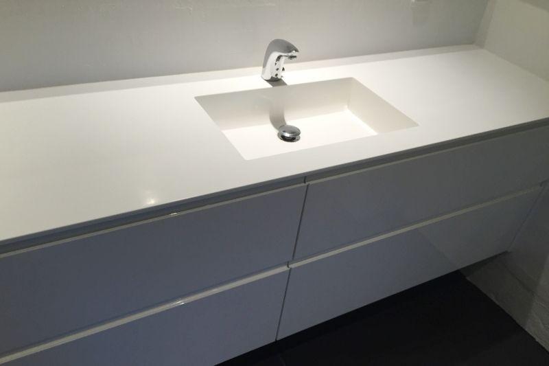 bordplade med vask til badeværelse Inspiration til Corian bordplader bordplade med vask til badeværelse