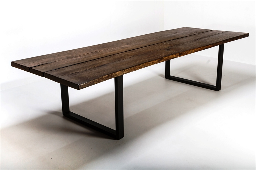 Velsete Rustik plankebord med 2 brede planker i eg. 90 x 260cm WU-83