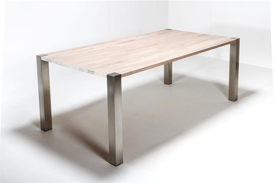 Steelleg Spisebord hvid eg m 8x8cm st229lben 90x200cm  : Steellegeg p from www.bordpladefabrikken.dk size 900 x 600 jpeg 205kB