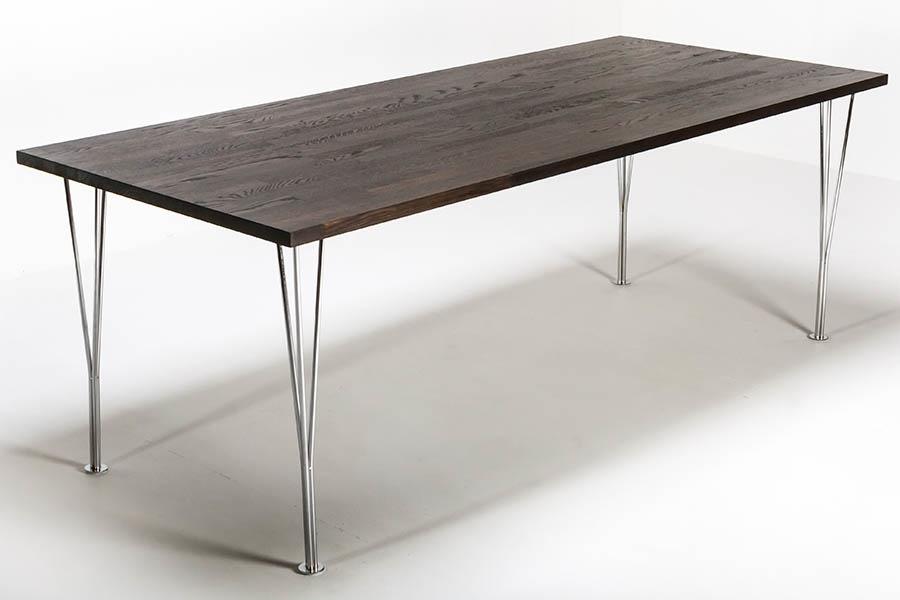 Tristan Spisebord Black Oak With Star Steel Legs 90x200cm