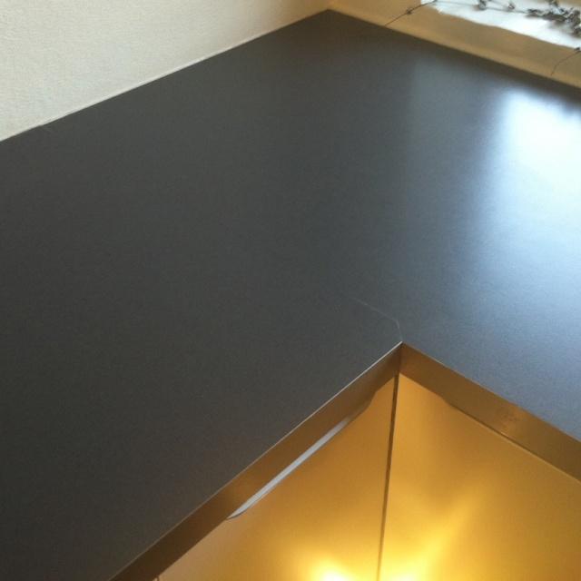 samling af bordplader laminat