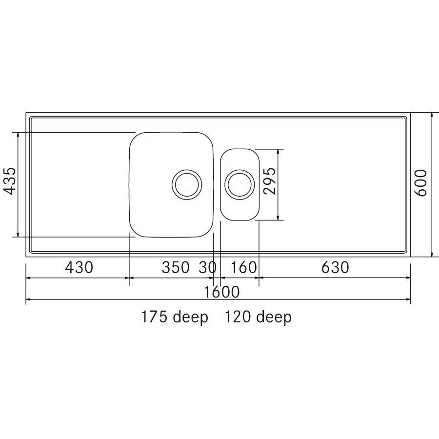 De luxe st lbordplade 600x1600 mm g16r for Garderobe 0286