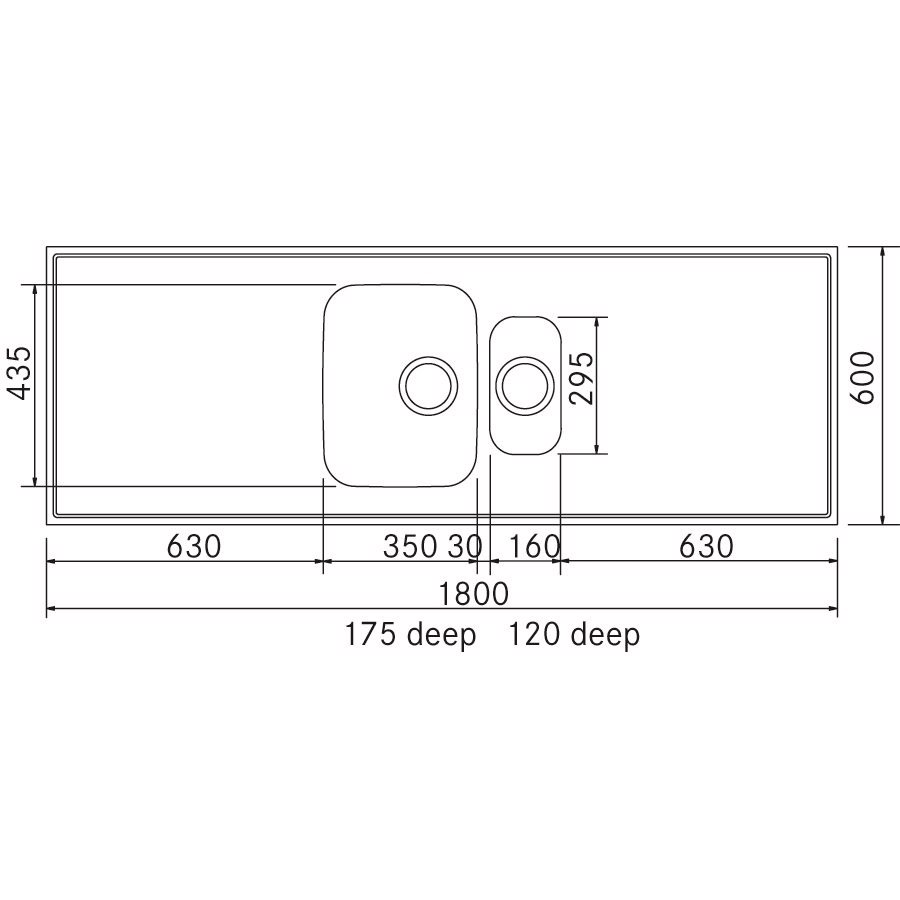De luxe st lbordplade 600x1800 mm g18r for Garderobe 0286