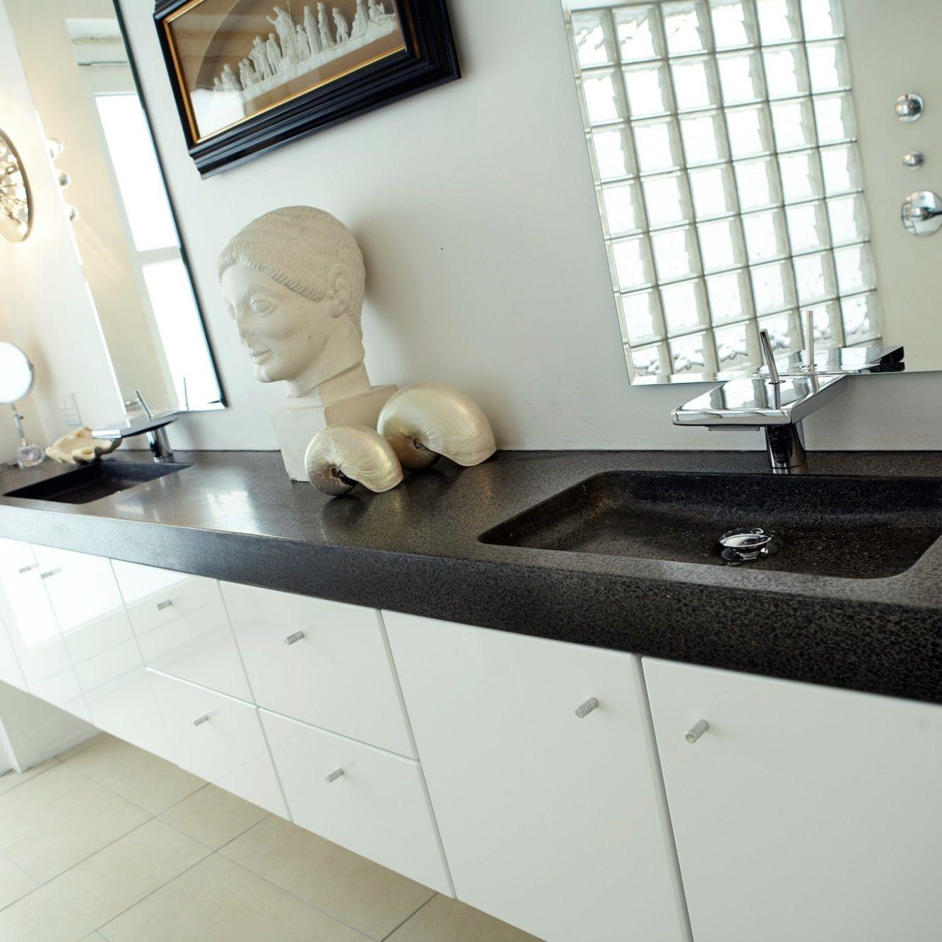 Terrazzo og beton bordplader til køkken og bad