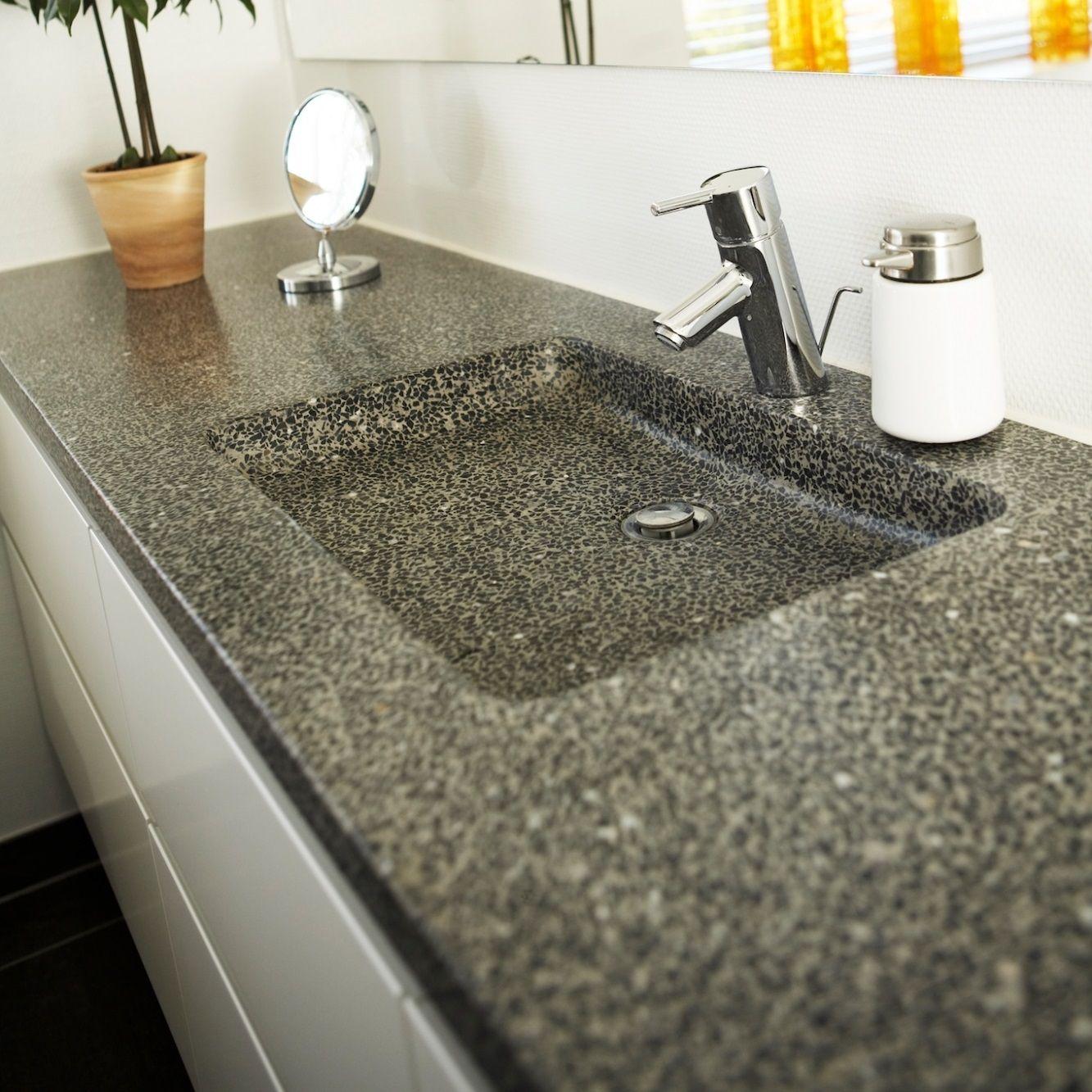 terrazzo og beton bordplader til k kken og bad. Black Bedroom Furniture Sets. Home Design Ideas