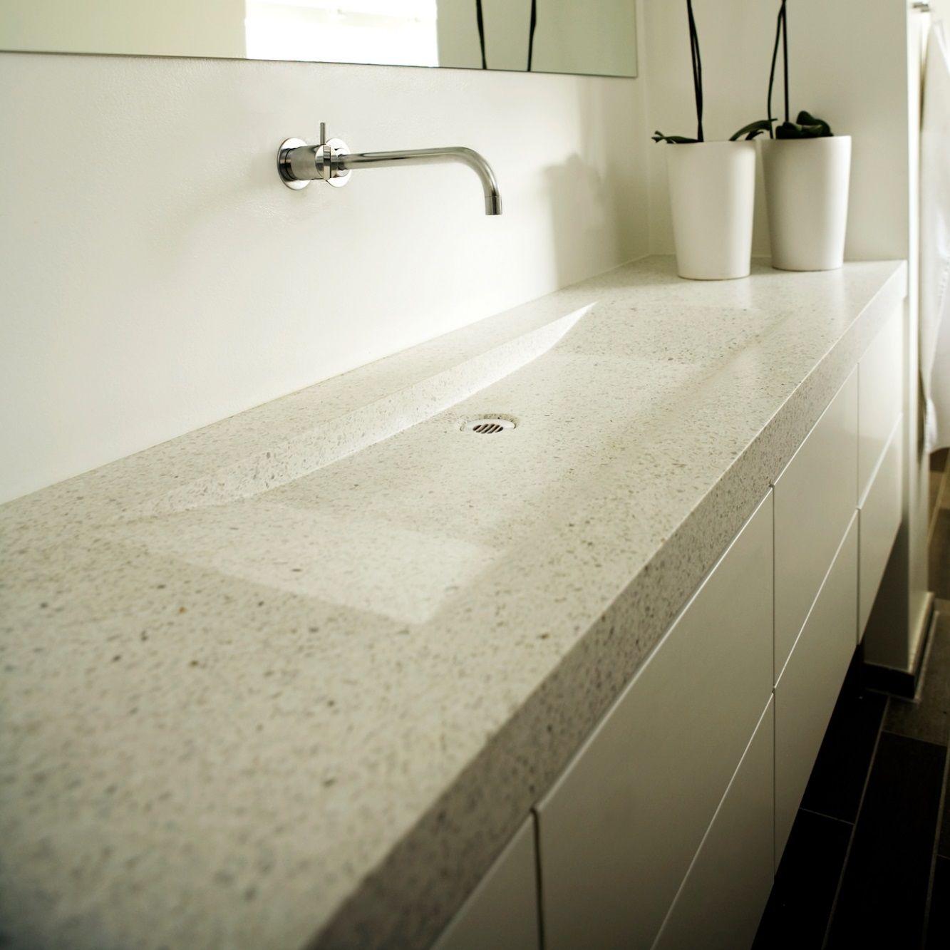 Terrazzo og Beton bordplader til kokken og bad