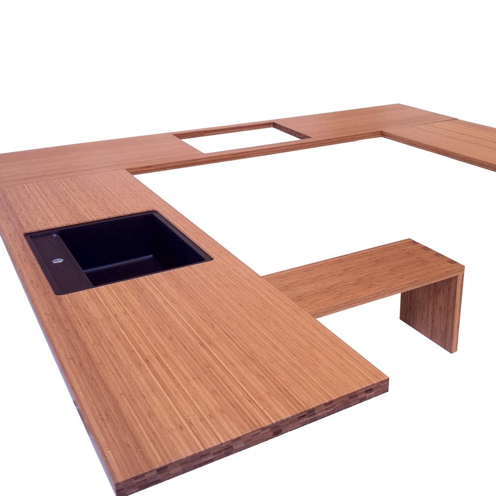 Inspiration til valg af køkkenbordplade i massiv træ