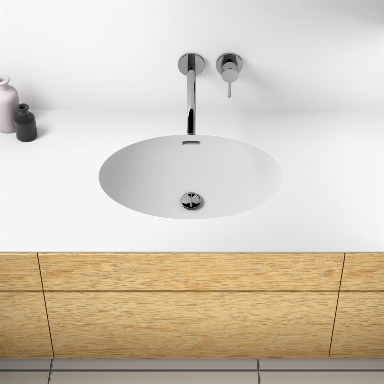 Picture of: Getacore Badevaerelsesvask Oval Mal 46 5×33 5x13cm Pris Inkl Integrering Skabsbredde 60cm